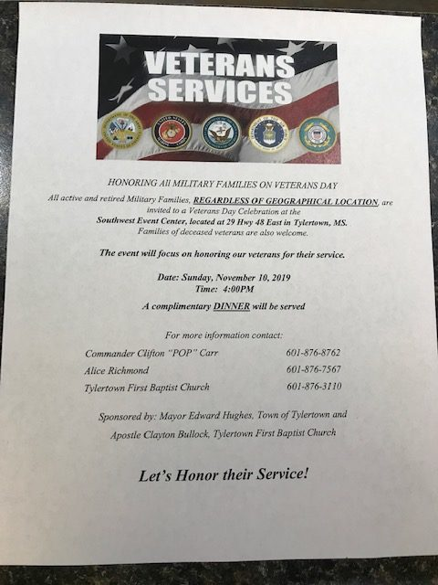 Veterans Day Service 2019 Flyer